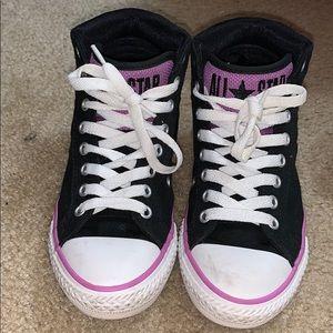 Purple and black converse size 2